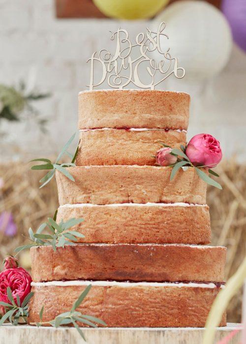 BEST DAY EVER CAKETOPPER I TRE - BOHO