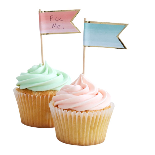 Cupcake Toppers ombre