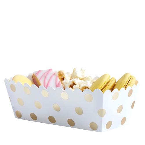 Food Tray med gull prikker