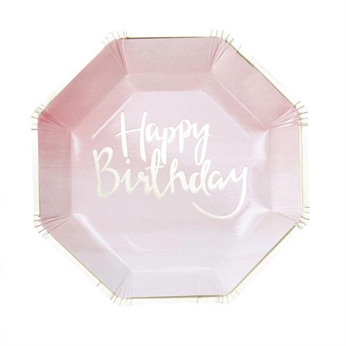 Papptallerken Happy Birthday