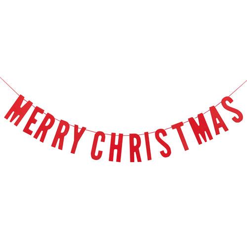 Vimpelrekke Merry Christmas Rød