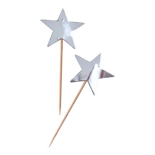 Stjernetopper I Sølv