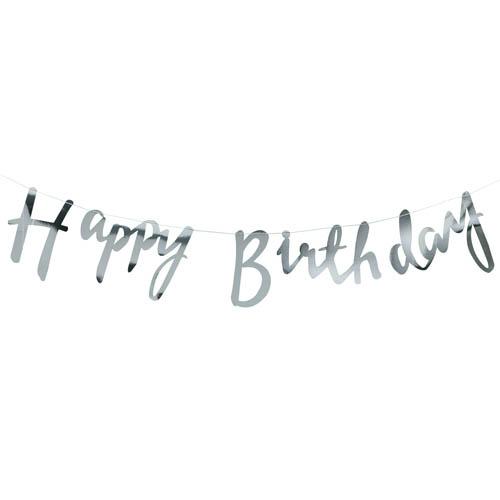 Vimpelrekke i Sølve - Happy Birthday