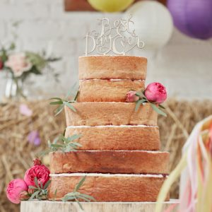 BEST DAY EVER CAKETOPPER I TRE - BOHO