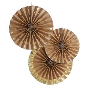 Papirvifter Brown Kraft Med Gull Prikker