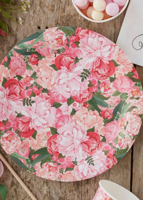 Papptallerken_Floral_Honeyoak1