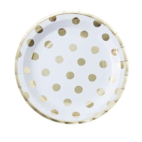 Papptallerken Polka Dot