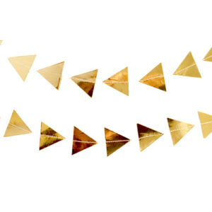 Vimpelrekke Gull Triangel