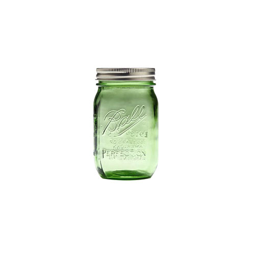Ball Mason Jar Wide Mouth 0,95L Grønn