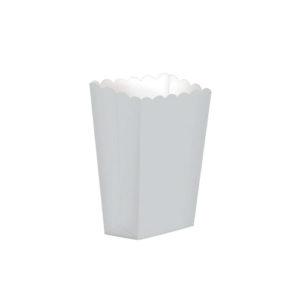 Popcornboks Sølv Liten