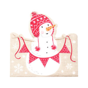 Juleservietter Snømann