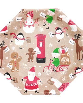 Papptallerken Med Julemotiv