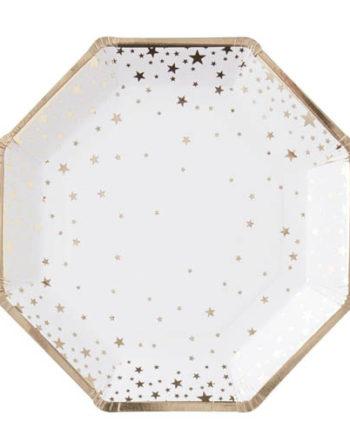 Papptallerken Stjerne Gull