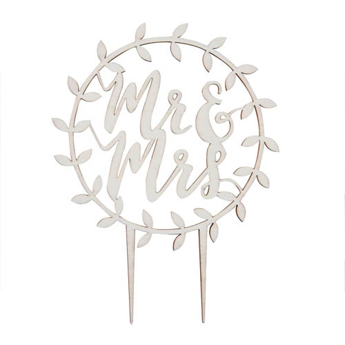 Mr & Mrs Cake topper i tre