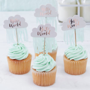 Hello World Cupcake Toppers
