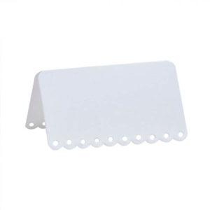Hvite Bordkort