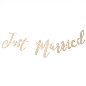 Just Married Vimpelrekke i tre