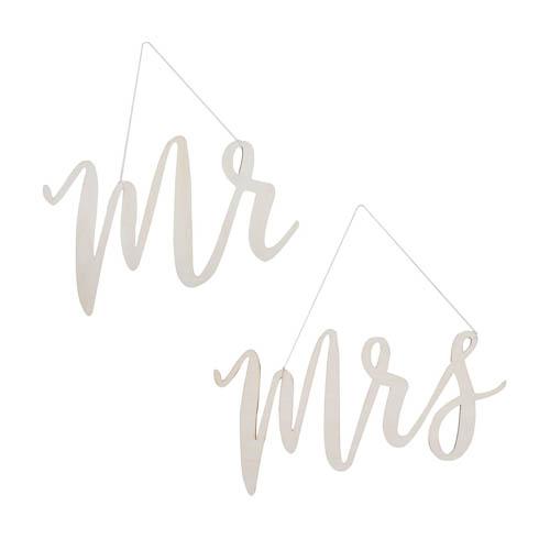 Mr & Mrs stolskilt i tre