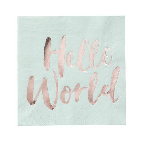 Hello World Servietter