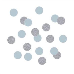 Bordkonfetti Sølv og Blå