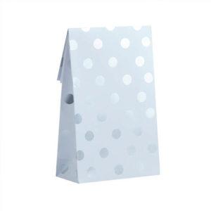 Papirposer med sølvfoliert Polka Dots
