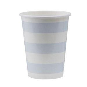 Pappkopp Blå striper