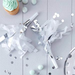 Partyfløyte Sølv og Hvit