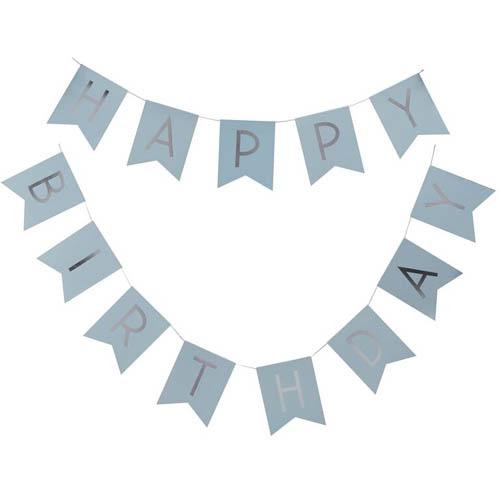 Vimpelrekke Happy Birthday