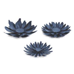 Papir Dekorasjon Blomst Blå