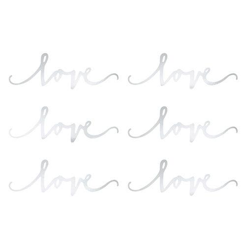 Borddekor LOVE Sølv
