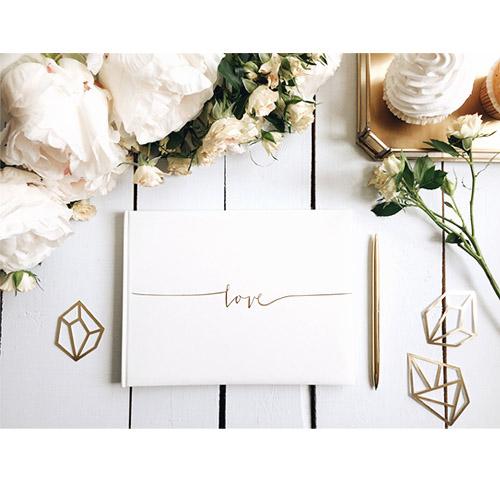 Gjestebok til bryllup 1 Honeyoak