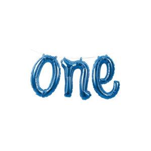 Ballongrekke One Blå