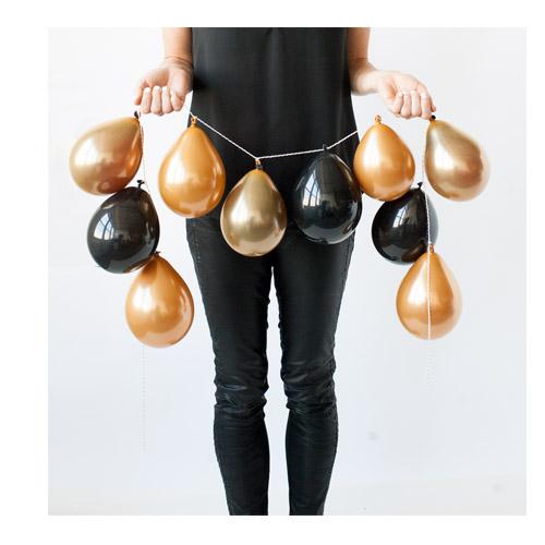Ballongrekke Sort og Gull