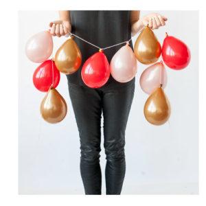 Ballongrekke Gull Rosa og Rød