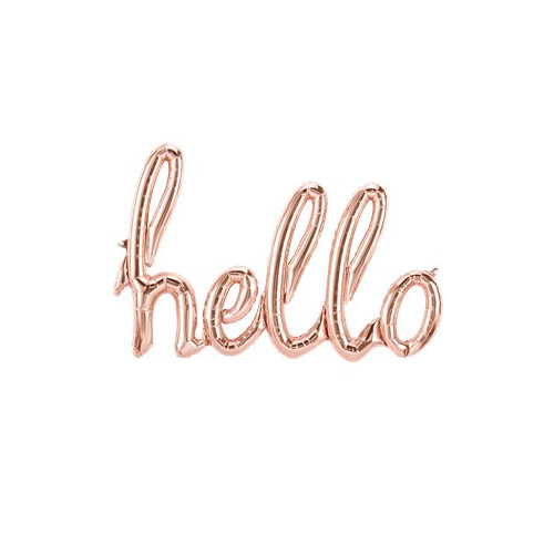 Ballongrekke Hello Rose Gold
