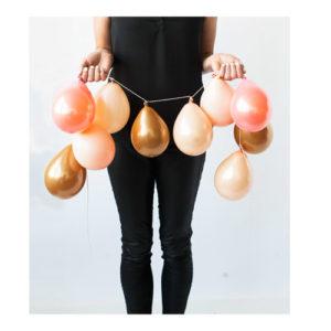 Ballongrekke Rosa Fersken og Gull