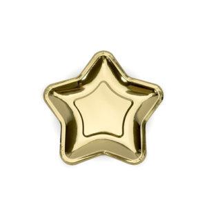 Gullfoliert stjernetallerken