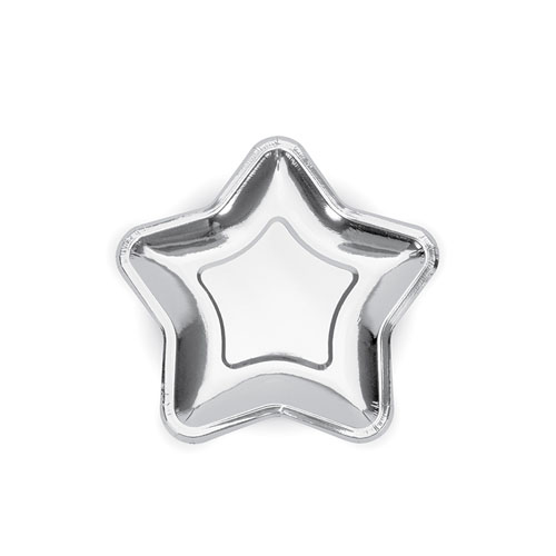 Sølvfoliert stjernetallerken