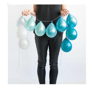 Ballongrekke Hvit Blå og Grønn