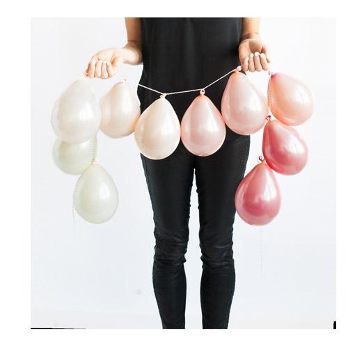Ballongrekke Krem Perlerosa og Rose