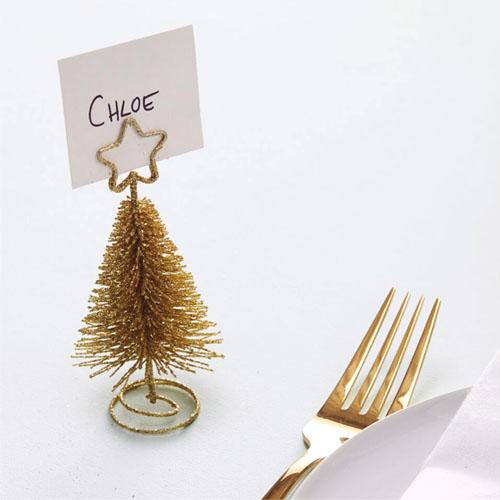 Gull juletre bordkortholder 1 Honeyoak