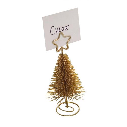Juletre bordkortholder Gull