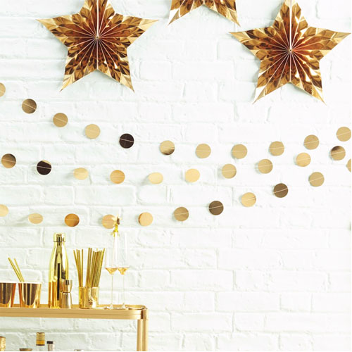 Gullfoliert circle garland 1 Honeyoak