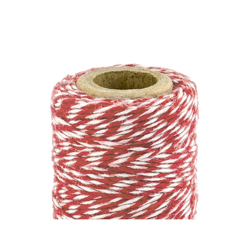 Bakers Twine - Rød og Hvit