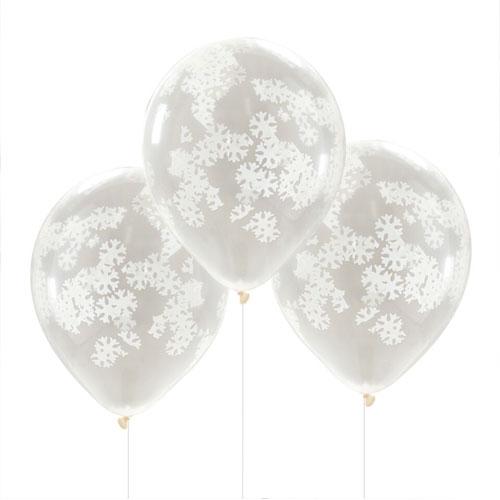Snowflake confetti ballonger