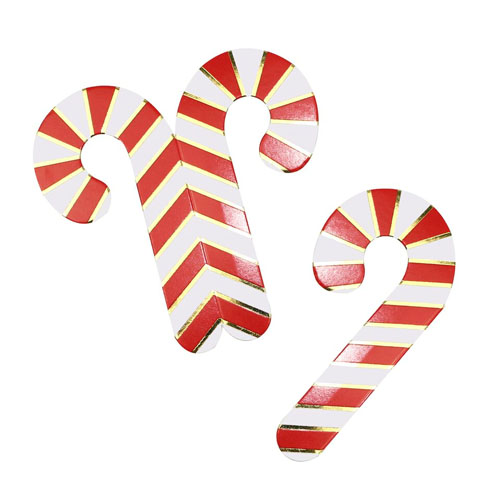 Candy Cane glass dekor
