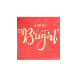 Merry and Bright cocktail servietter
