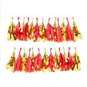 Rød og Gull tassel