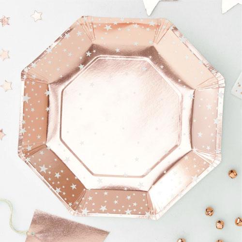 Rose Gold Stjerne Tallerker 1 Honeyoak