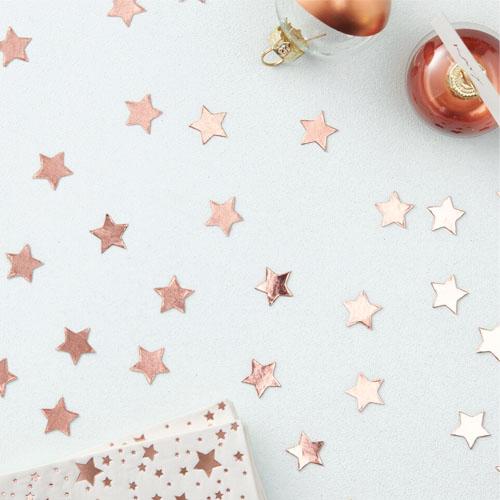 Rose Gold Stjerne konfetti 1 Honeyoak